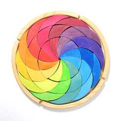 Grimm's Building Set Rainbow Colour wheel Puzzle