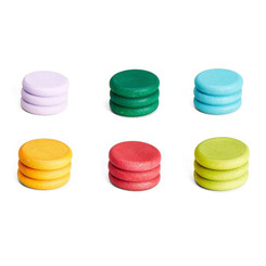 Grapat Coins 18pcs in 6 Non-Basic Colours