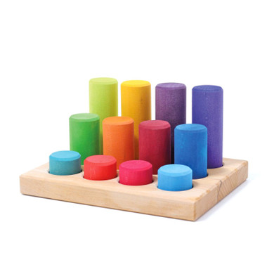Grimm's Stacking Game Small Rainbow Rollers