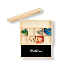 Nesk Kids Travel Store and Play Box with loose parts (not included)