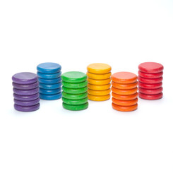 Grapat Rainbow Coins 36 pcs in 6 Colours