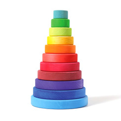 Grimm's Large Rainbow Conical Stacking Tower