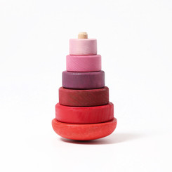 Grimm's Pink Wobbly Conical Stacking Tower