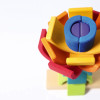 Grimm's Double Rainbow Stacking Tower - stacking flower closeup