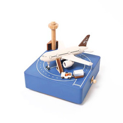 Wooderful Life Airport Apron Music Box