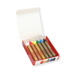 Kitpas Medium Stick Crayons 6 colours
