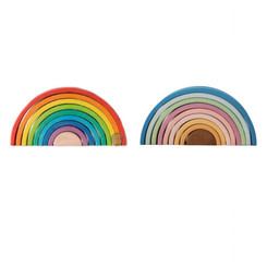 Avdar Medium Rainbow and Pastel Stacker (each sold separately)