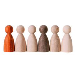 Avdar Natural Wooden Friends 6pc