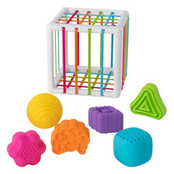 Fat Brain Toys InnyBin with 6 textured shapes