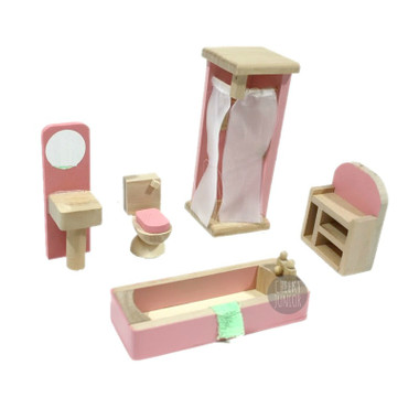 Timbertop Toys Wooden Dollhouse Furniture Bathroom