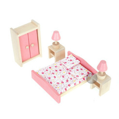 Timbertop Toys Wooden Dollhouse Furniture Bedroom