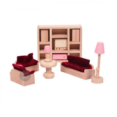 Timbertop Toys Wooden Dollhouse Furniture Living Room