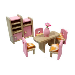 Timbertop Toys Wooden Dollhouse Furniture Dining Room