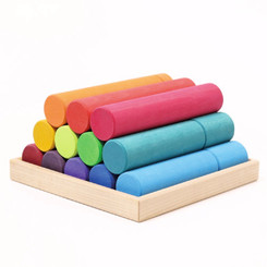 Grimm's Stacking Game Large Rainbow Rollers
