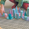 Grimm's Stacking Game Large Pastel Rollers with semicircles