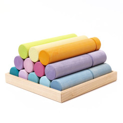 Grimm's Stacking Game Large Pastel Rollers