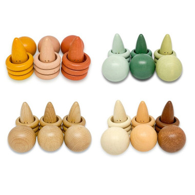 Little Earth Toys Leaves Playsets Rings and Balls - assorted colours