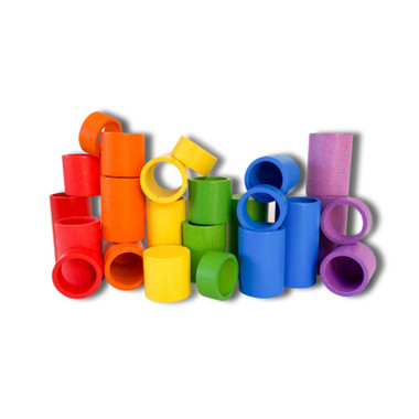 Little Earth Toys Rainbow Cups and Tubes