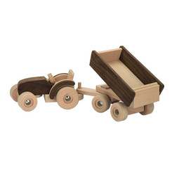Goki Nature Tractor With Trailer - tipping tray