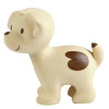 Tikiri Puppy Natural Rubber Teether Rattle & Bath Toy - side