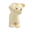 Tikiri Puppy Natural Rubber Teether Rattle & Bath Toy - front