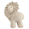 Tikiri Lion Natural Rubber Teether Rattle & Bath Toy - front