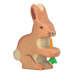 Holztiger Hare/Rabbit with Carrot