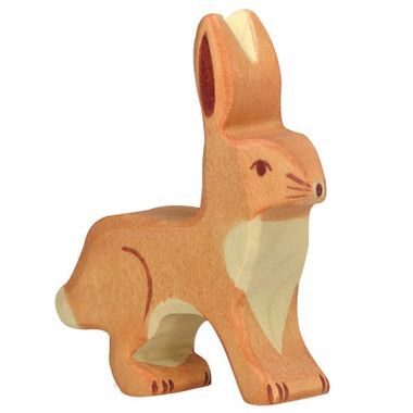 Holztiger Hare/Rabbit with Upright Ears