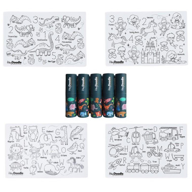 HeyDoodle Mini Mats (4 designs) and packaging