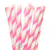 Make Nice Striped Paper Straws - Iced Vovo (Hot Pink/Pink/White)