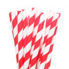 Make Nice Striped Paper Straws - Red