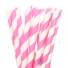 Make Nice Striped Paper Straws - Hot Pink