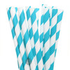 Make Nice Striped Paper Straws - Teal