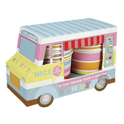 Meri Meri Ice Cream Van with Ice Cream Cups & Spoons