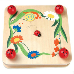 Kaper Kidz Wooden Ladybug Flower Press
