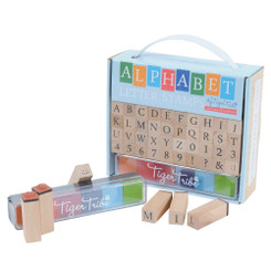 Tiger Tribe Wooden Alphabet (ABC) Letter Stamps Kit