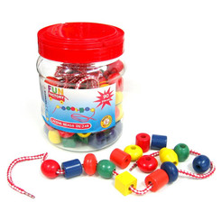 Fun Factory Wooden Lacing Beads in Jar (90pcs)