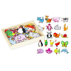 Fun Factory Wooden Magnetic Cartoon Animals