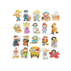 Fun Factory Wooden Magnetic Occupations Set