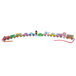 Fun Factory Wooden Lacing Blocks - Transportation