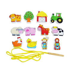 Fun Factory Wooden Lacing Blocks - Farm