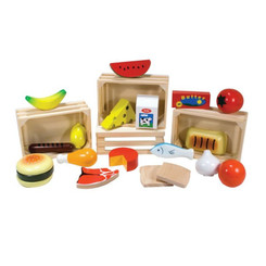 un Factory Wooden Food Box with 4 Food Groups