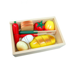 Fun Factory Wooden BrFun Factory Wooden Bread Breakfast Cutting Boxead Breakfast Cutting Box