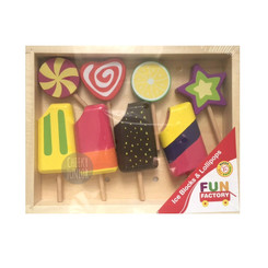 Fun Factory Wooden Lollipops & Ice Blocks Set
