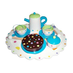 Sparkle T Wooden Dotti Tea Set