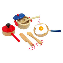 Fun Factory Wooden Pot and Pan Cooking Set
