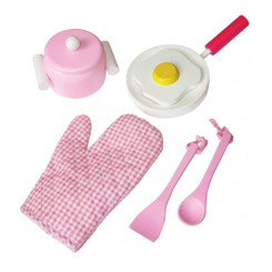 Fun Factory Wooden Pink Cooking Set