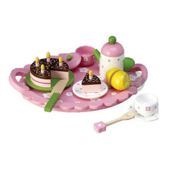 Toyslink Wooden Chocolate Cake Tea Set