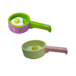 Sparkle T Wooden Frypan with Fried Egg - Romance or Yellow