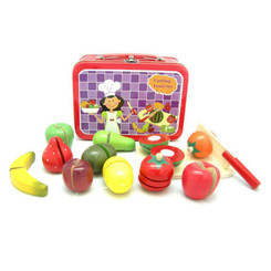 Kaper Kidz Wooden Fruit Set in Tin Carry Case